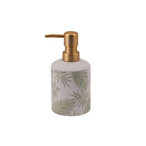 Allibert zeepdispenser Oural wit/groen glanzend