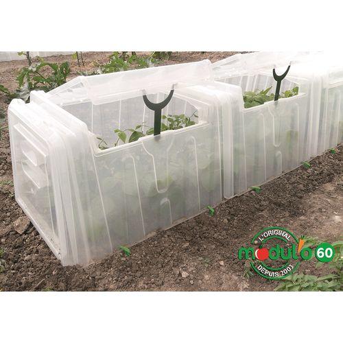 Mini serre tunnel Modul'o 60 polypropylène transparent 79x59x50cm