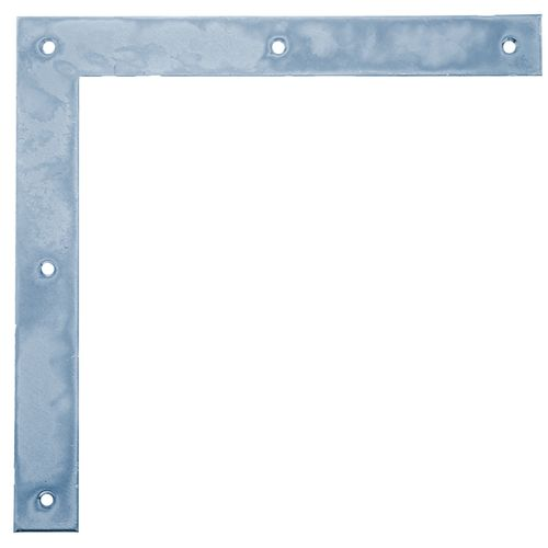 GAH Alberts poorthoek galvanisch blauw 200x200x30mm