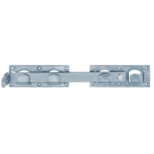 Verrou GAH Alberts pour double porte galvanique bleu 423x70mm