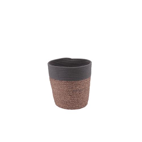 Panier Allibert Conga coton naturel brun 3L