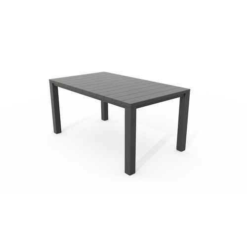 Table de jardin Allibert Julie graphite 147x90 cm