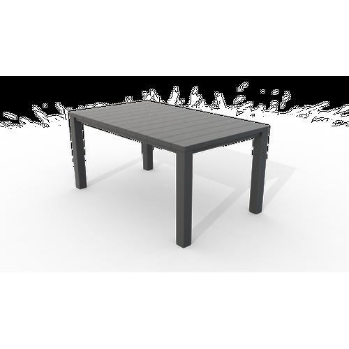Table de jardin Allibert Julie graphite 147x90 cm