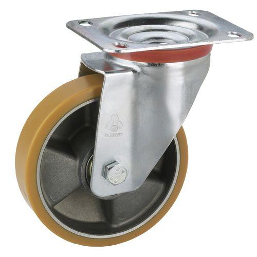 Dörner+Helmer zwenkwiel Tarrox aluminium polyurethaan 100x30mm