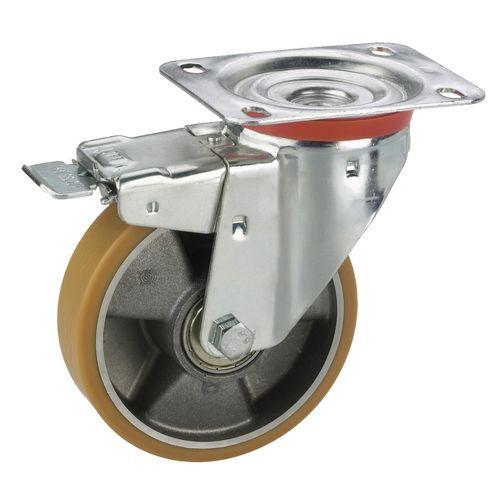 Dörner+Helmer zwenkwiel voor transportmachines 100x128x30mm