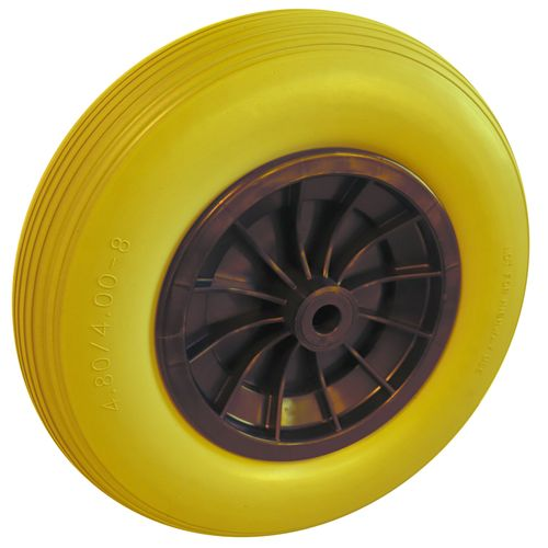 Dörner Helmer steekwagenwiel polyurethaan geel 40cm