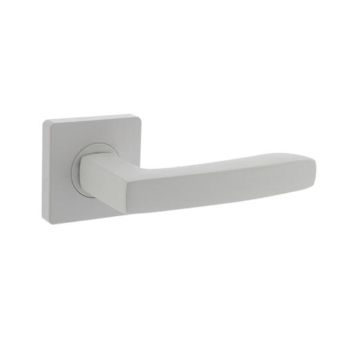 Intersteel deurkruk Minos staal wit met rozet