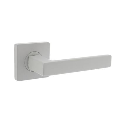 Intersteel deurkruk Hera staal mat wit met rozet