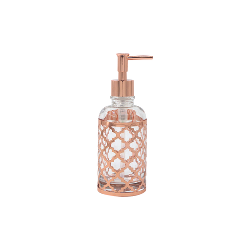 MSV zeepdispenser Layla glas/koper