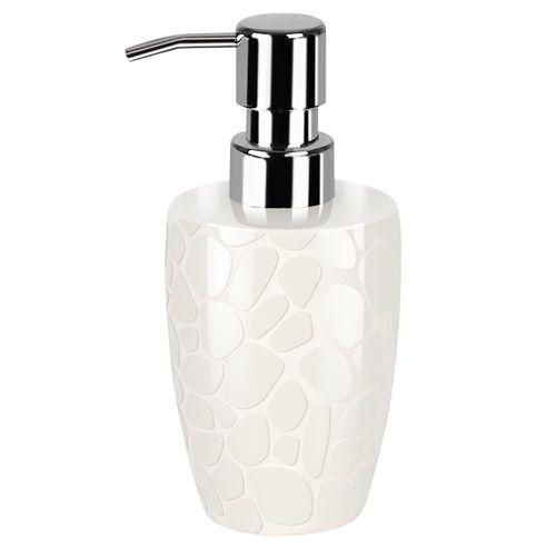Distributeur de savon Spirella Darwin Pebble gris blanc