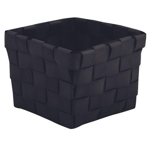 MSV opbergmandje zwart 10x10cm