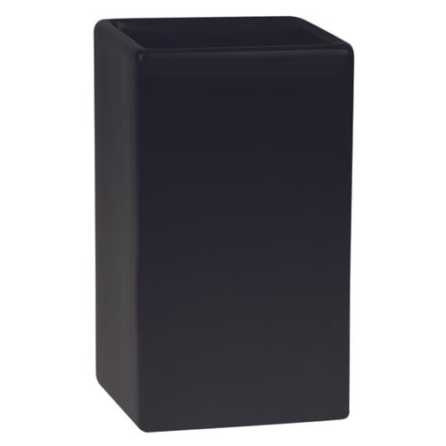 Spirella beker Quadro mat zwart