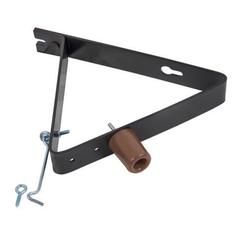 GAH Alberts deuropvanger buffer + haak verzinkt kunststof coating 290x40x5mm