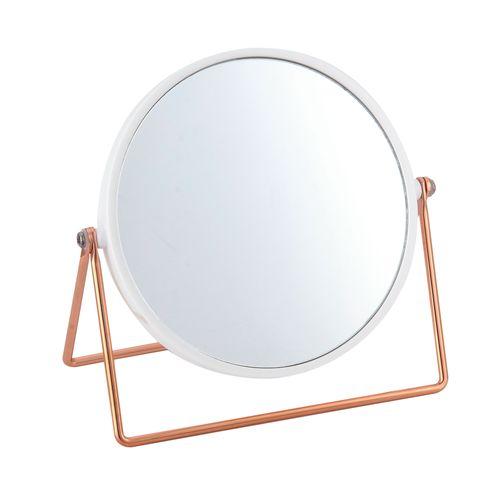 MSV make-up spiegel Pretty staand wit/koper
