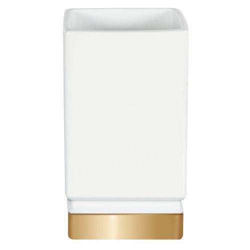 Gobelet Spirella Roma blanc or