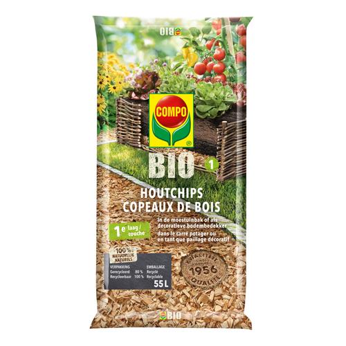 Compo Bio houtchips natuurlijk 55L