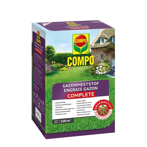 Engrais gazon Compo Complete 100m² 4kg