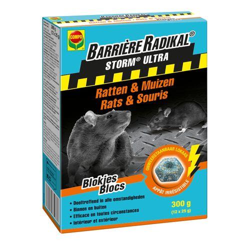 Anti-souris et rats blocs Compo Barrière Radikal Storm Ultra 300g