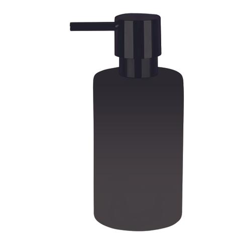 Spirella zeepdispenser Tube mat zwart