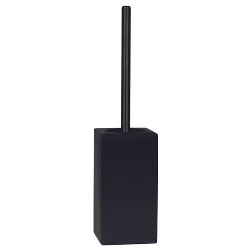 Set brosse wc Spirella Quadro noir mat à poser