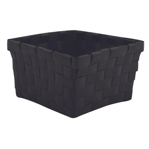 MSV opbergmandje 14x14cm zwart
