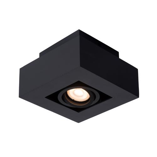 Lucide plafondlamp Xirax 1x5W zwart dimbaar
