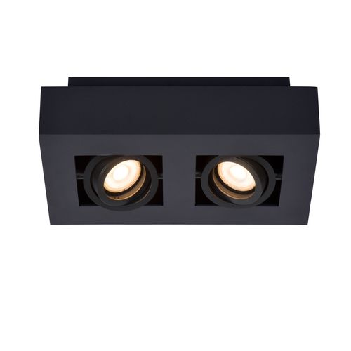 Lucide plafondlamp Xirax 2x5W zwart dimbaar