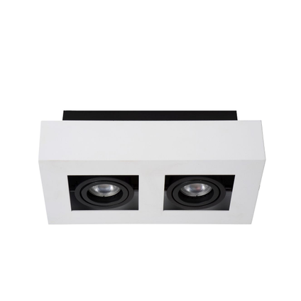 Lucide plafondlamp Xirax 2x5W wit dimbaar