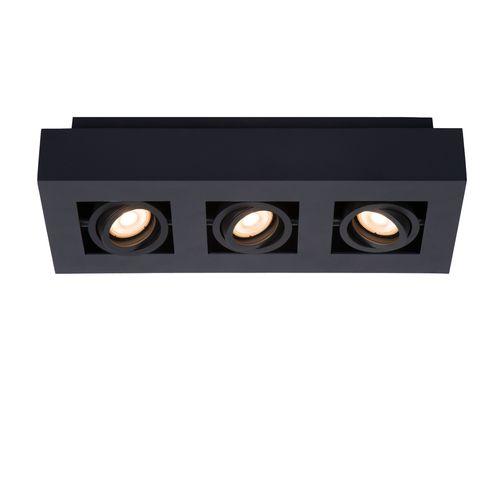 Plafonnier Lucide Xirax 3x5W noir intensité réglable