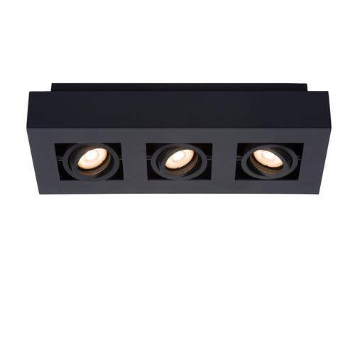 Lucide plafondlamp Xirax zwart dimbaar 3x5W