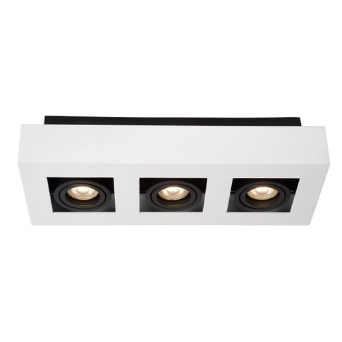 Lucide plafondlamp Xirax wit dimbaar 3x5W