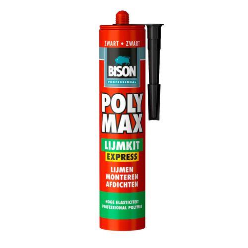 Bison universele montagelijm professional Poly Max Lijmkit Express Zwart 425g