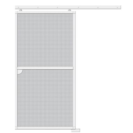 Moustiquaire de porte coulissante Cando Standard 120x240cm blanc