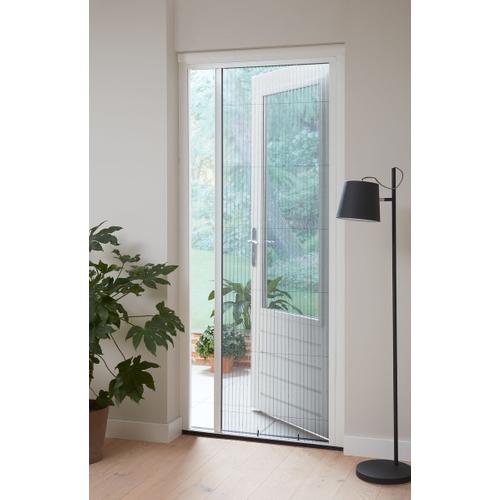 Moustiquaire de porte plissé Cando Comfort 100x209 blanc