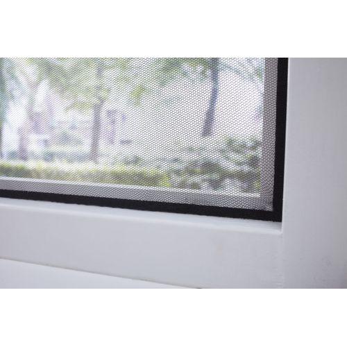 Moustiquaire à bande autocollante CanDo Basic noire 130x150cm