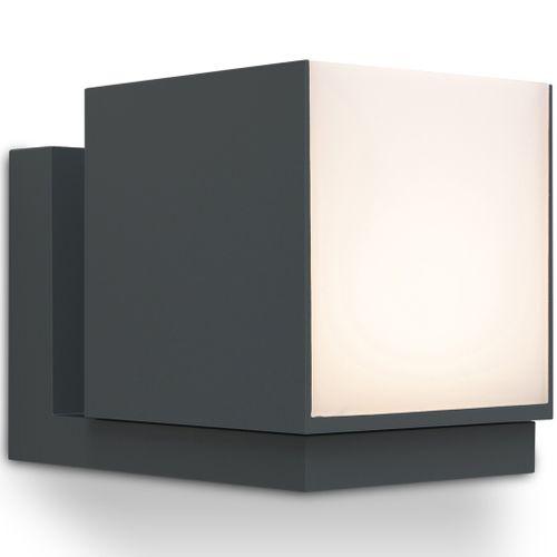 Lutec buiten wandlamp Cuba LED antraciet 12W