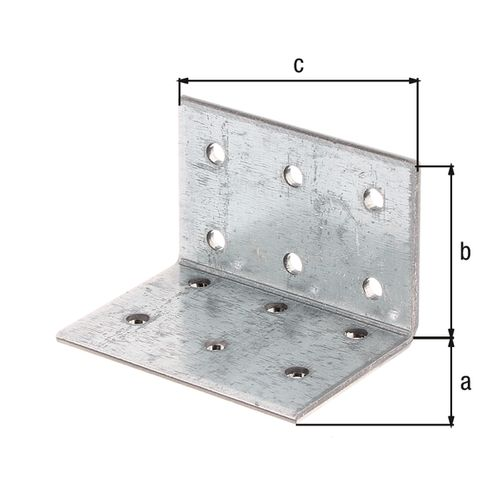 GAH Alberts hoekkoppelplaat verzinkt 40x40x60x2,5mm