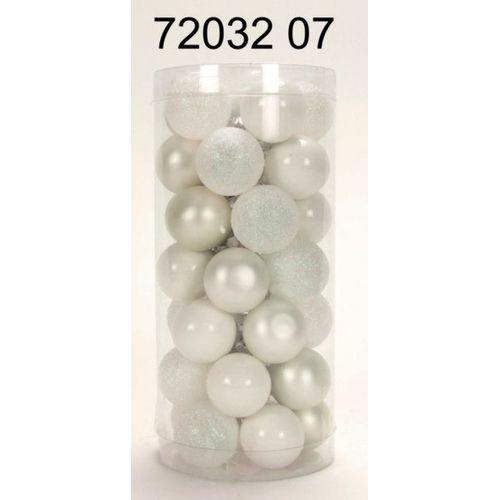 Boules de Noël scintillant et mat blanc 35 pièces