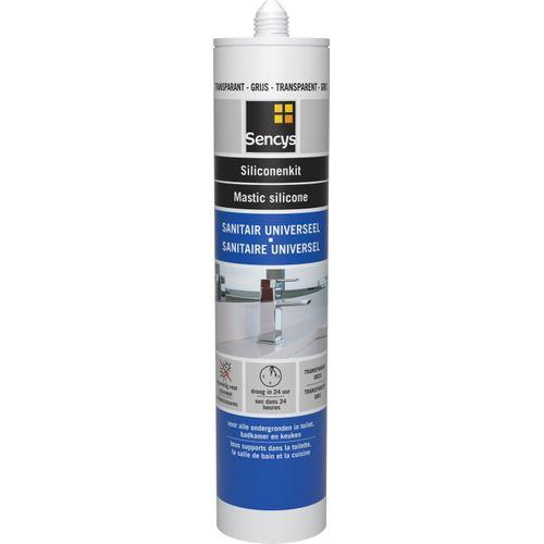 Sencys siliconenkit sanitair grijs 310ml