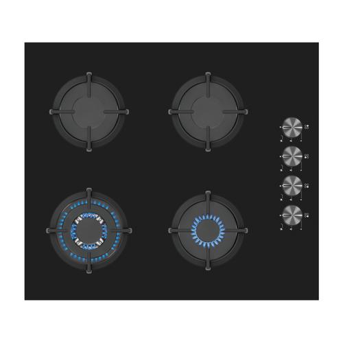 Plaque de cuisson gaz Electrum PS6041CS verre noir 60cm