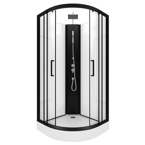 Cabine de douche Aurlane Pepper 2 noir 85x85x230cm