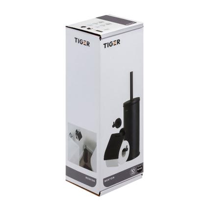 Tiger accessoireset Boston - toiletborstel met houder vrijstaand - Toiletrolhouder - Haak – Zwart
