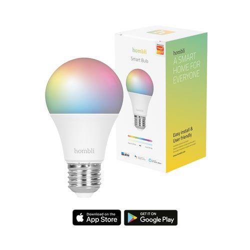Hombli smart lamp LED gekleurd E27 9W