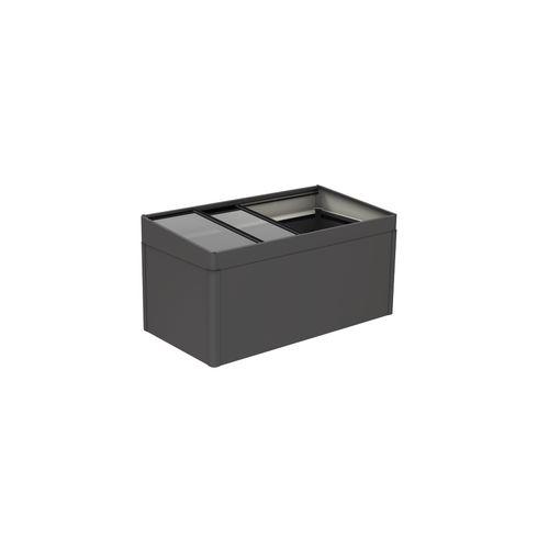 Biohort moestuinbox 2x1 donkergrijs