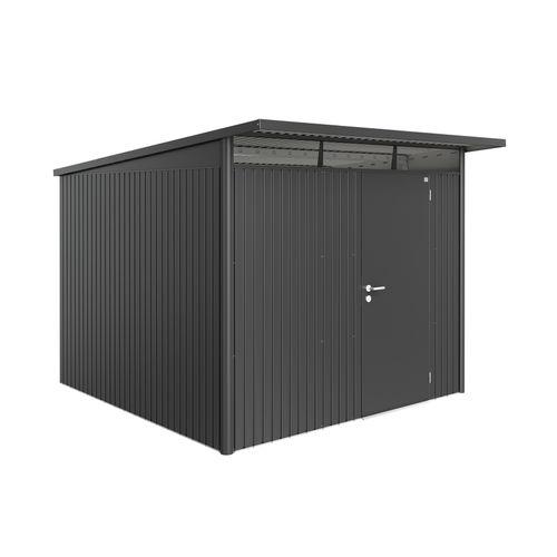 Biohort tuinhuis AvantGarde A7 met enkele deur donkergrijs 260x300cm