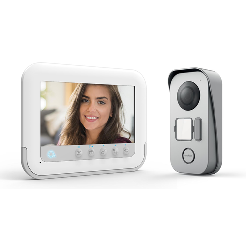 Vidéophone Avidsen Ylva 3 + badges RFID blanc