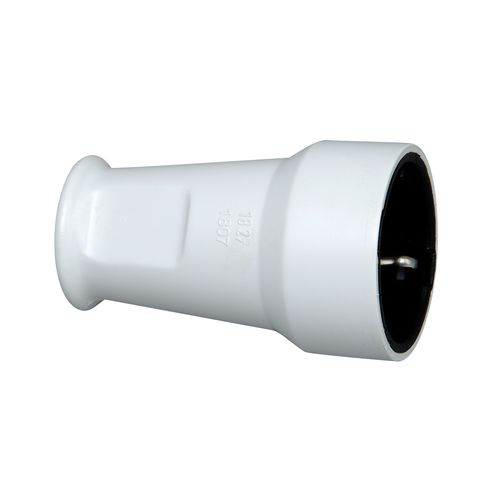 Fiche PVC femelle Kopp  avec terre 16A blanc