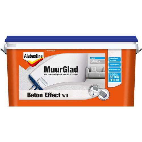 Alabastine muurglad beton effect wit 5L
