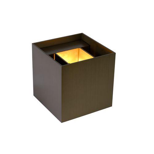 Lucide applique LED Xio carré rouille 3,5W