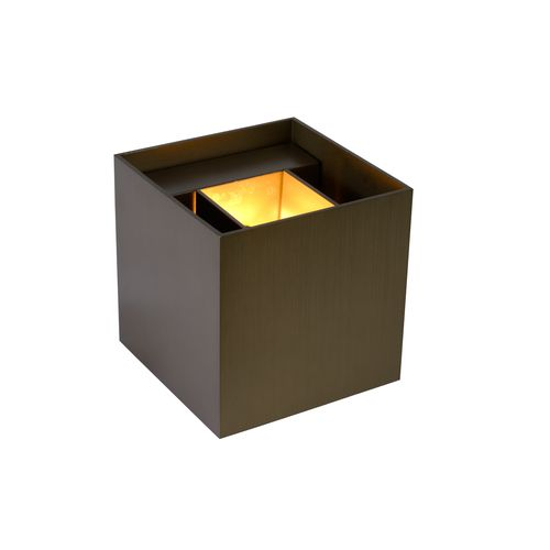 Lucide wandlamp LED Xio vierkant roest 3,5W